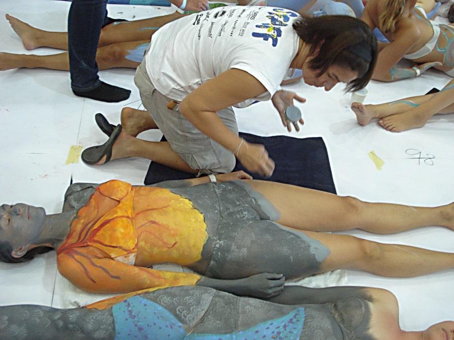 Painter und Modelle beim Reefcalendar