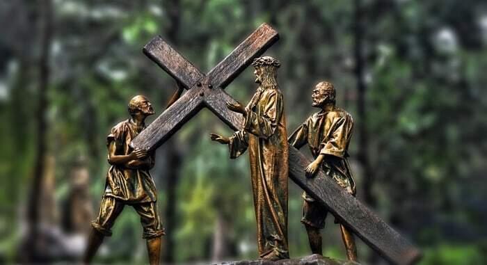 Ostern, Osterbraeuche, Jesus am Kreuz