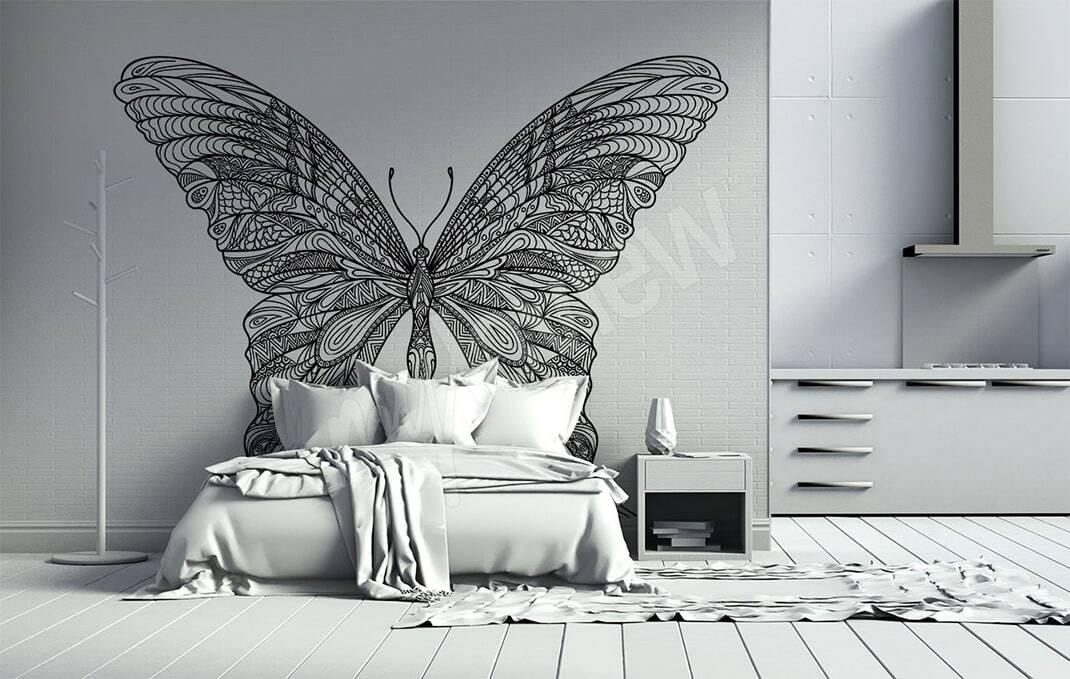 Wandsticker mit Schmetterling
