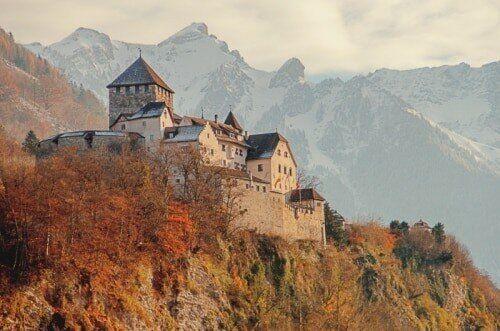 Schloss Vaduz in Liechtenstein,