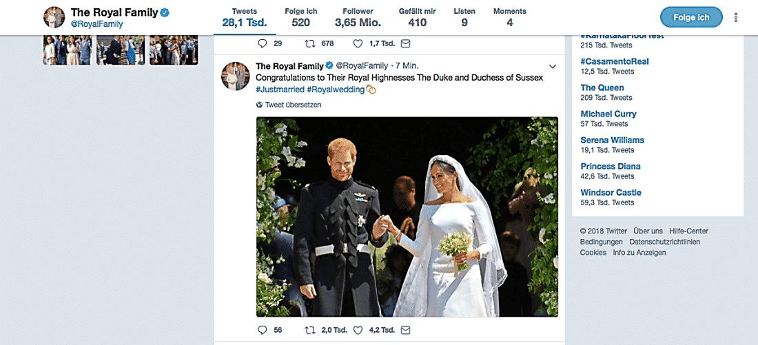 Hochzeit von Prinz Harry und Meghan Markle geht die königliche Familie einen weiteren Schritt in Richtung Modernisierung: