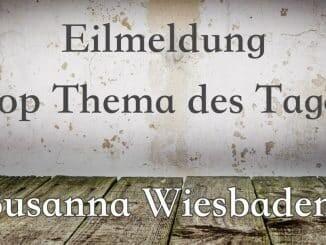 Susanna Feldmann wurde tot aufgefunden. Wiesbaden, Polizei, Mainz