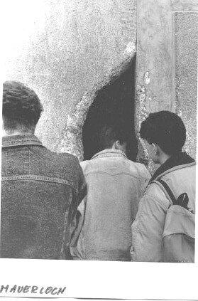 9 November 1989, Berliner Mauer, Muro di Berlino