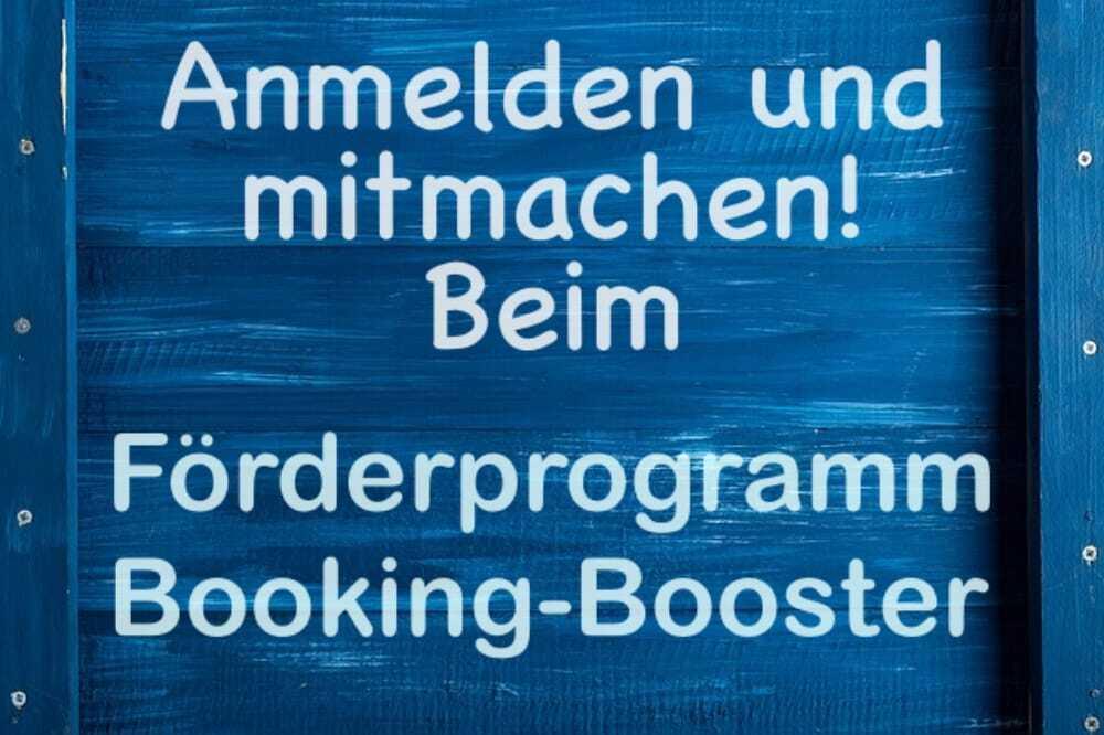 Förderprogramm, Booking-Booster, Startup, verträglich reisen