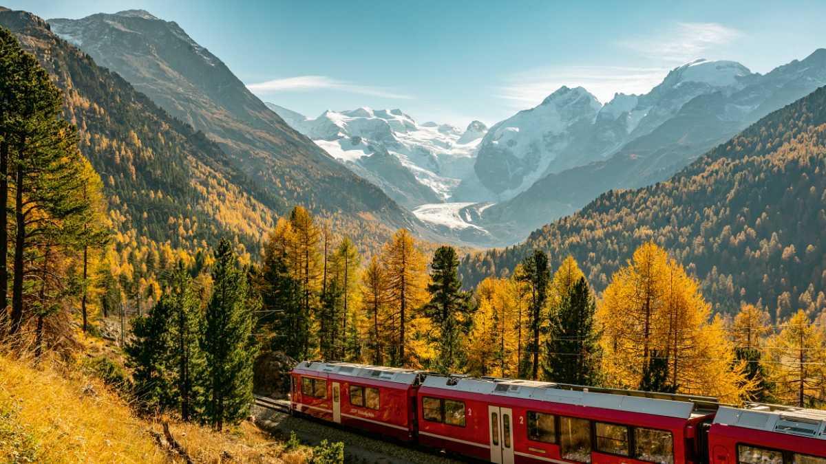 Natur und Kultur, im Zug durch die Schweiz
