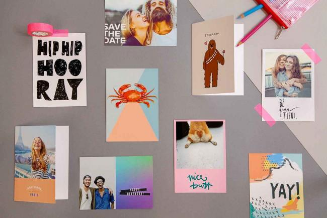 zusammenhalten, Postkarten app, lifestyle magazin, elegant