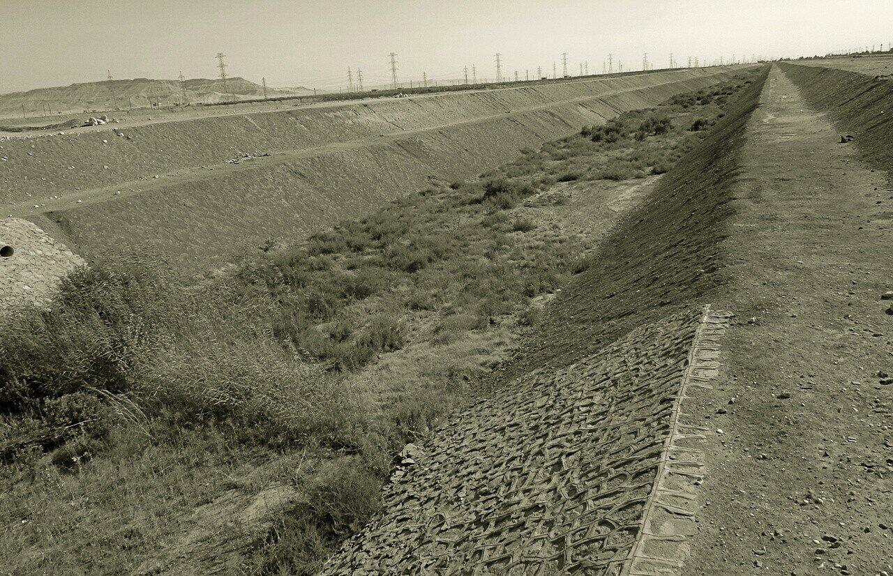 Bewässerungssystem Ägypten, Kanal zur Regenwassernutzung, Reportage Daniela Shams