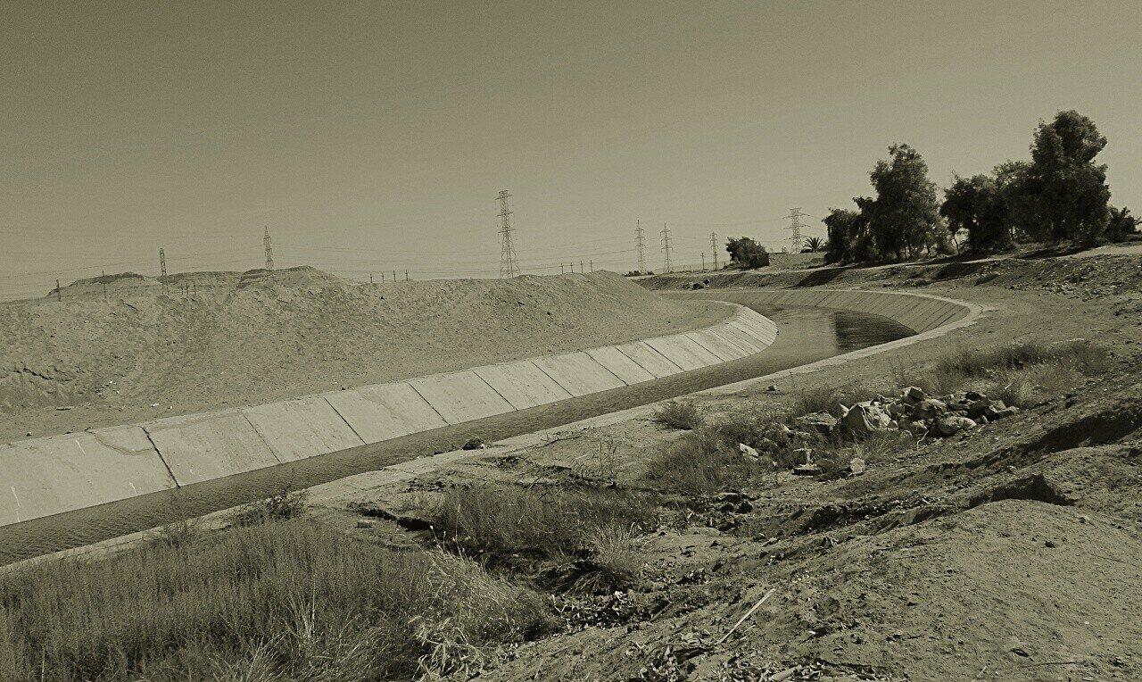 Bewässerungssystem Ägypten, Kanal vom Nil, reportage auf dem land